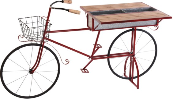 BT1000020 Bar Bicycle Table, Red 70.8x27.5x40.9 in.