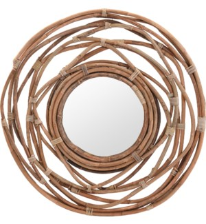 J11300470 BRISTOL MIRROR KUBU IN WREATH SHAPE