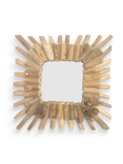 J11301090 Square Driftwood Mirror, 15x15 in.