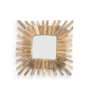 """Square Driftwood Mirror, 15x15 in. On sale 35 percent off!"""