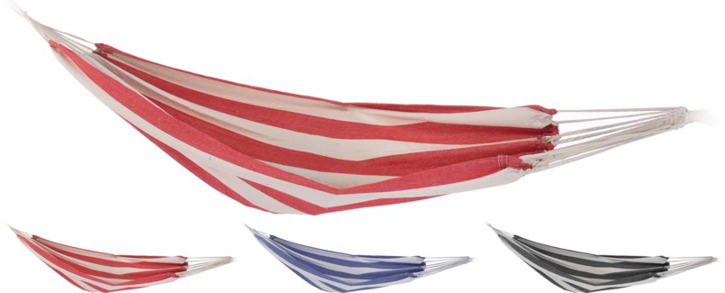 X28000130 Striped Hammock 3Assorted Colours, 78.7x39 in.