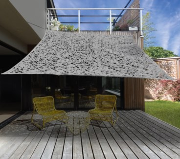 X61500150 Dappled Shade Rectangle Patio Cover, Lt. Grey 118x79 in