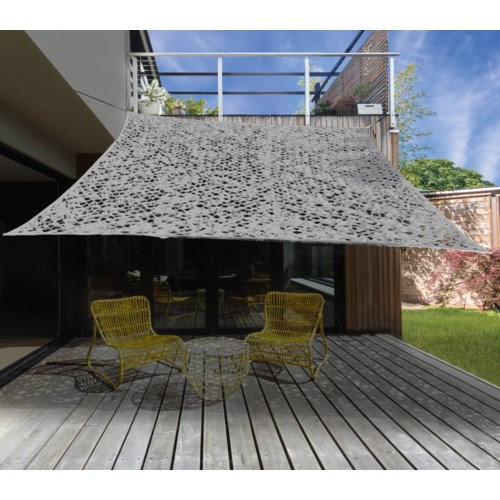 X61500190 Dappled Shade Square Patio Cover, Lt. Grey 118x118 in