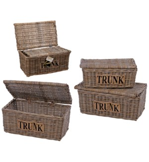 """J09000900-Kubu Trunk Set/2, (Small 22x13x10 in/Large 27x13x10 in)"""