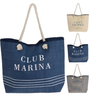 """C86000160 BEACH BAG, SIZE 51X40X14CM, 3ASST"""