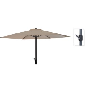 """FD4300610 UMBRELLA DIA 3MTR IN TAUPE, HEIGHT: 24"""