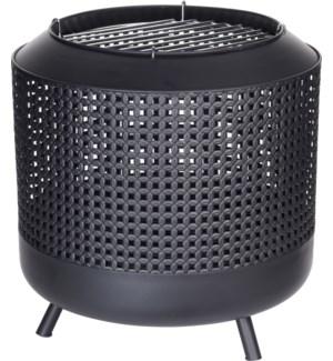 """""""FB8200820 FIRE BASKET IN METAL, BLACK COLOR, SIZ"""""""