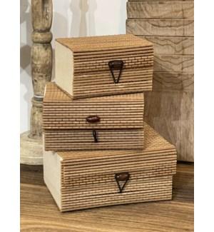 838300120 BOX BAMBOO NATURAL COLOUR SET OF 3PCS.
