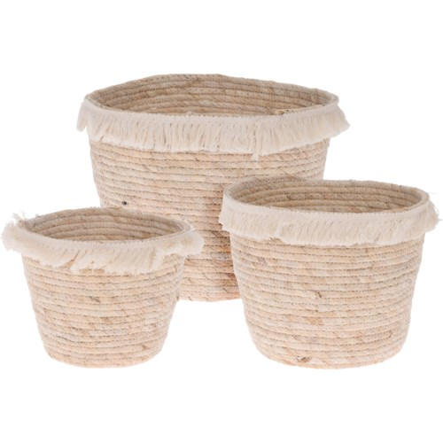 """FRINGE BASKET SET/3, LC"""