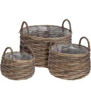 """430000130 ROUND BASKET SET/3, WILLOW, LC"""