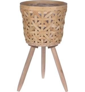 """Flower Pot On Legs 24X21Cm, Wooden"""