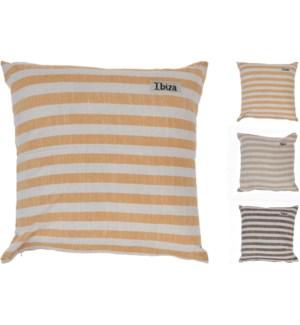 """Cushion 45X45Cm Stripe 3Ass Cl, Cotton"""