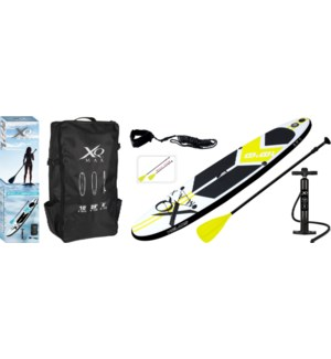 Xqmax Sup Rounded Model 3 Fin/1 Eu Fin. Lime & Black.