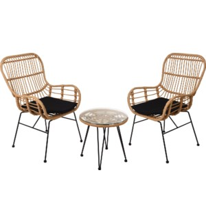 """X67000030 GARDENSET WITH RATTAN FINISH, 3 PCS"""