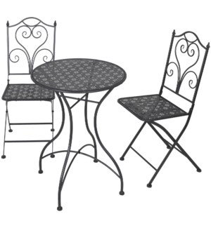 X77000100 BISTRO GARDEN SET METAL. 3PCS