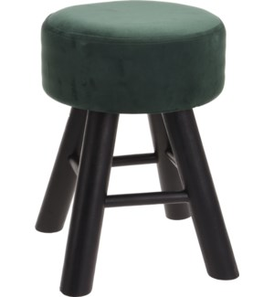 """CAT300320 STOOL WITH 3 LEGS GREEN VELVET, SIZE:"""