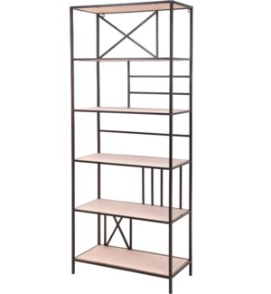 """HX9100140 SHELF RACK, SIZE 70X32X170CM. BLACK PO"""