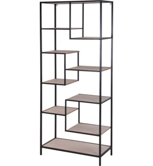 """HX9100130 SHELF RACK, METAL, WITH 10 MDF SHELVES"""