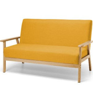 """LA5000050 SOFA RUBBER WOOD W/ POLYESTER,SIZE 134"""