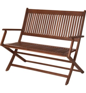 VT2200380 TWO SEATER FOLDING BENCH. ACACIA WOOD