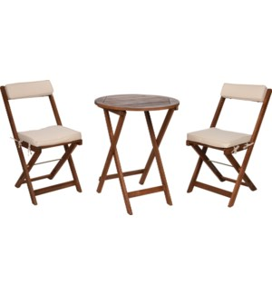 """VT2200410 FOLDABLE BISTRO SET/3PCS W/CUSHIONS, A"""
