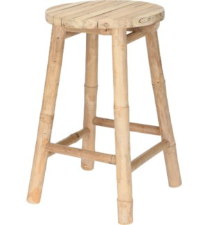 """""""VT6100160 STOOL BAMBOO, SIZE D30X50CM, ROUND TOP"""""""