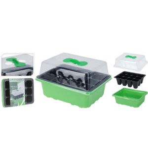 """GREENHOUSE SEEDER TRAY WITH AIR SWITCH 3PC SET,"""