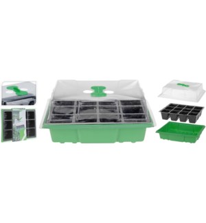 """GREENHOUSE TRAY WITH AIR SWITCH 3PC SET, MEDIUM"""