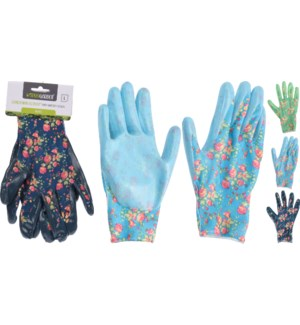"""CK9900520 GARDEN GLOVES POLYESTER WITH NITRILE,, LC"""