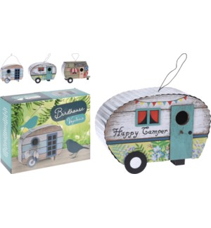 """VH1000170 BIRDHOUSE WOOD. 3 ASSORTED CARAVAN DES, LC"""