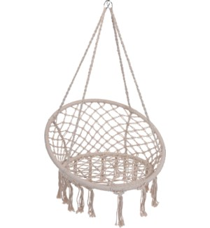 """""""Hanging Chair Round. Poly Cotton, Off White"""""""