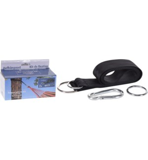 """HAMMOCK FIXATION KIT, 5X200CM WITH HOOK 7X70MM, LC"""