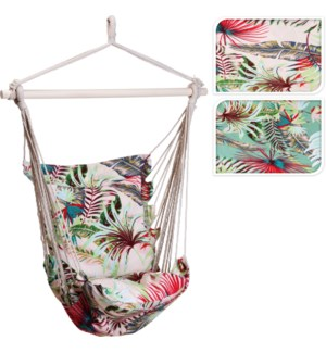X39500370 FLORAL PRINT HAMMOCK CHAIR 2ASST WITH