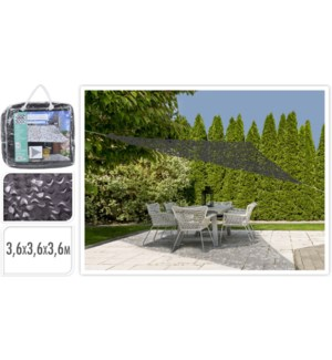 """X61500240 SHADE CAMOUFLAGE TRIANGLE, DARK GREY,"""