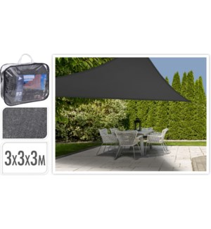 """X66100100 SHADE CLOTH TRIANGLE, 3X3X3M, GREY COL"""