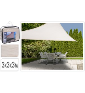"""X66100110 SHADE CLOTH TRIANGLE, 3X3X3M, CREAM CO"""