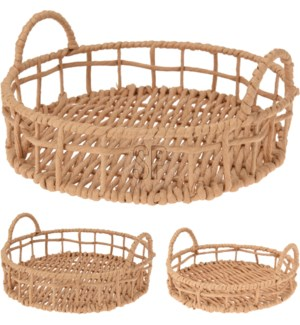 """""""Serving Tray Decoration, Paper Rope, With Two Handles"""""""