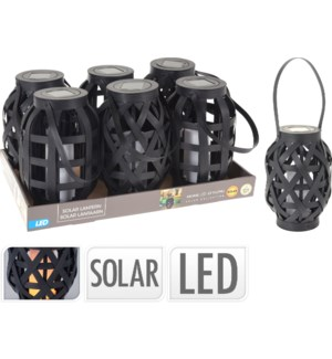 """CX2100080 SOLAR LANTERN RATTAN WITH CANDLE, LC"""