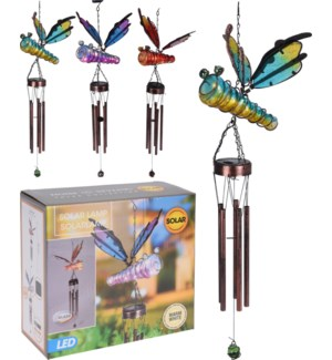 512000740 SOLAR GL ASSORTED DRAGONFLY WITH WIND
