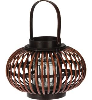 Lantern Split Willow. Dark Brown With Black.