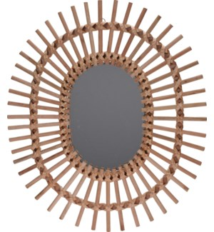 """NB1305100 MIRROR, OVAL SHAPE, NATURAL COLOR. SIZ"""