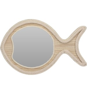 NB3305150 MIRROR WITH ROPE FISH SHAPE
