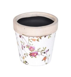 """""""FLORAL FLOWER POT CERAMIC, SMALL, LC"""""""