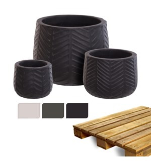 """""""Planter Perfectly Smooth, Set Of 3, 3 Ass.,On Pallet"""""""