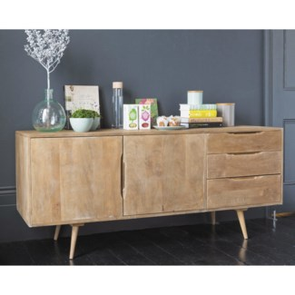 Damon Sideboard Table, Natural, Mangowood, 63x15.7x28.7inch