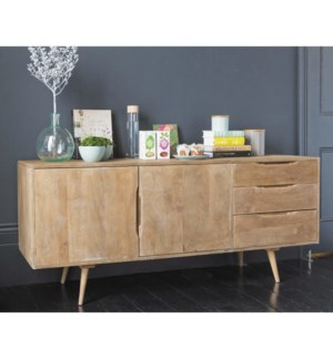 Damon Sideboard Table, Natural, 100% hardwood (Mango), India, 63x15.7x28.7inch