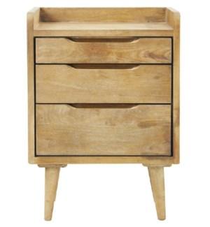 Jax Side Cabinet, 100% hardwood (Mango), India, 17x13x24.8 Inch