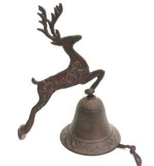 Jumping Deer Bell Cast Iron 6.7x3.9x8.7inch On sale 50 percent off original price of $8.50