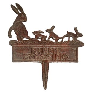 BUNNY CROSSING Garden Sign 12x1.2x14.2   - On Sale 23 percent off original price of 15.50 *Last