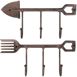 Hanger spade/fork ass. Cast iron. 27,5x5,0x14,0cm/27,5x5,0x14,6cm. oq/12,mc/36 Pg.44